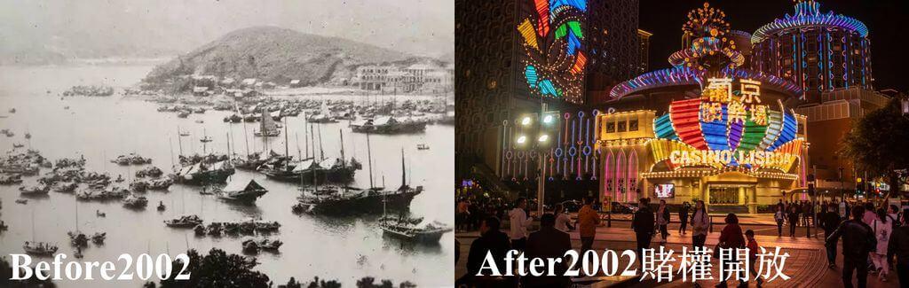 2002年前與2002年後的澳門