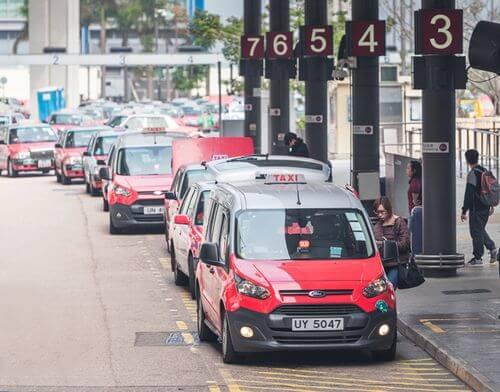 香港紅色的士計程車
